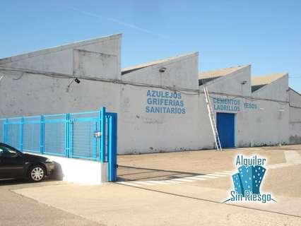 Nave industrial en alquiler en Cáceres