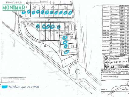 Parcela rústica en venta en Castellet i la Gornal